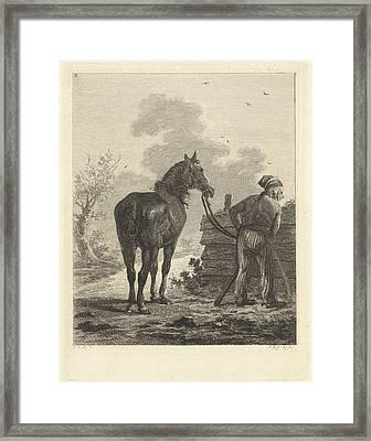Soldier With Horse, Joannes Bemme, Jan Anthonie Langendijk Framed Print