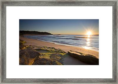 Soldiers Beach Framed Print by Steve Caldwell