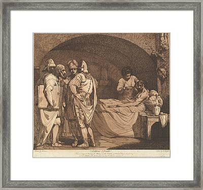 Soldiers Death From The Life And Death Framed Print