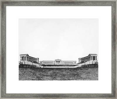 Soldiers' Field And Museum Framed Print by Underwood Archives