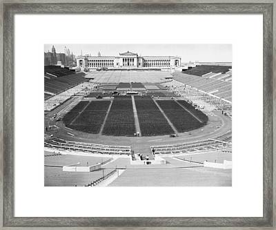 Soldier's Field Boxing Match Framed Print