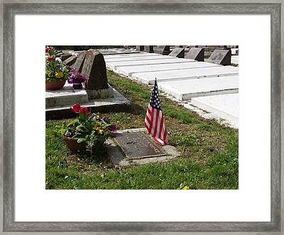 Soldiers Final Resting Place Framed Print