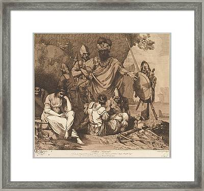 Soldiers Funeral From The Life Framed Print