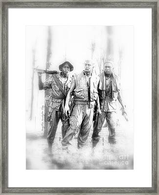 Soldiers Never Forgotten Framed Print by Angelia Hodges Clay
