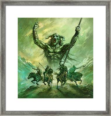 Soldiers Of Doom Framed Print