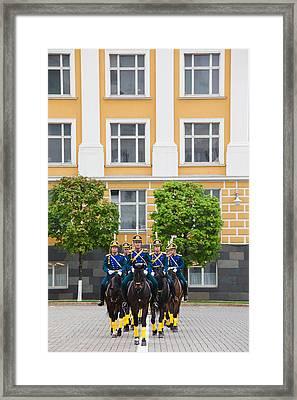 Soldiers Of The Presidential Regimental Framed Print