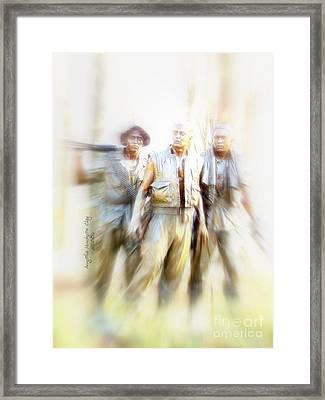 Soldiers On The Lookout Framed Print by Angelia Hodges Clay