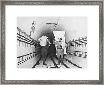 Soldiers On The Maginot Line Framed Print