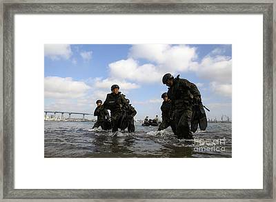 Soldiers With The Japan Ground Framed Print