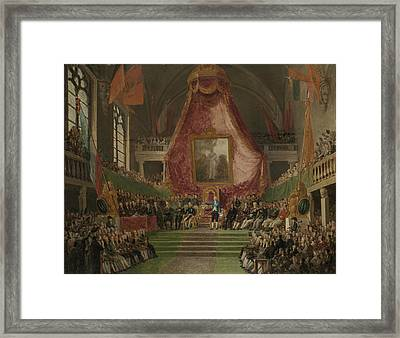Solemn Inauguration Of Ghent University By The Prince Framed Print