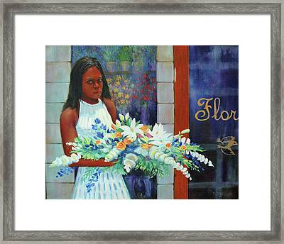 Framed Print featuring the painting Solemn Occasion by Dwain Ray