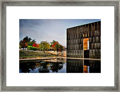 Solemn Reflections - Okc Memorial Framed Print by Gregory Ballos