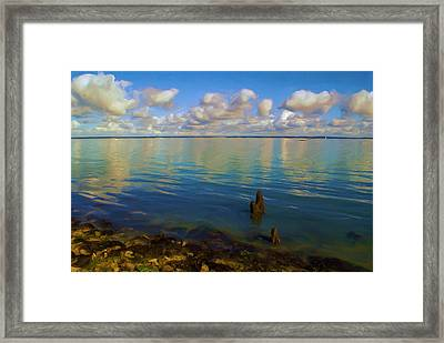 Framed Print featuring the digital art Solent by Ron Harpham