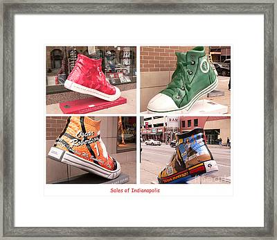 Soles Of Indianapolis Framed Print by David Bearden