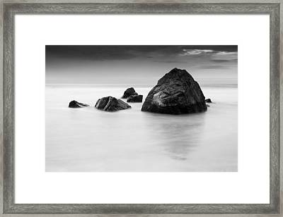 Solid And Ethereal Framed Print by Alex Conu