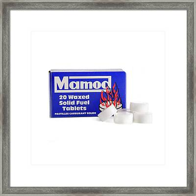 Solid Fuel Tablets Framed Print by Science Photo Library