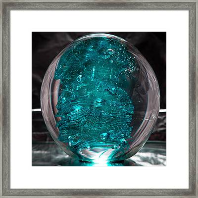 Solid Glass Sculpture Rb1 Framed Print by David Patterson