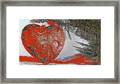 Solid Love Heart Made Of Metal Framed Print by Feile Case