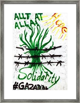 Solidarity Gaza Framed Print