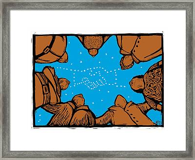 Solidarity In Stars Framed Print by Ricardo Levins Morales