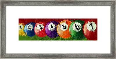 Solids Billiards Abstract Framed Print by David G Paul
