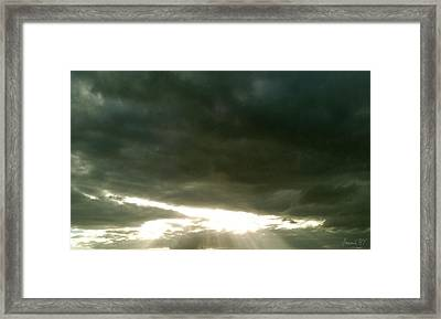 Solis Gratium Framed Print by Amanda Holmes Tzafrir