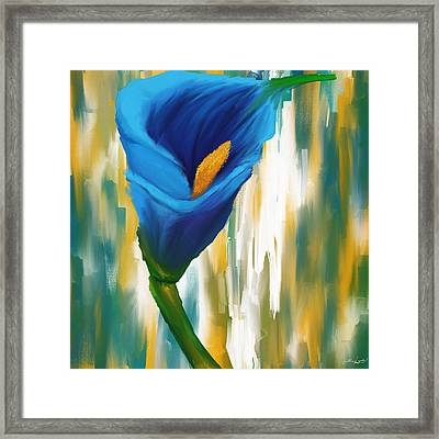 Solitary Blue Framed Print
