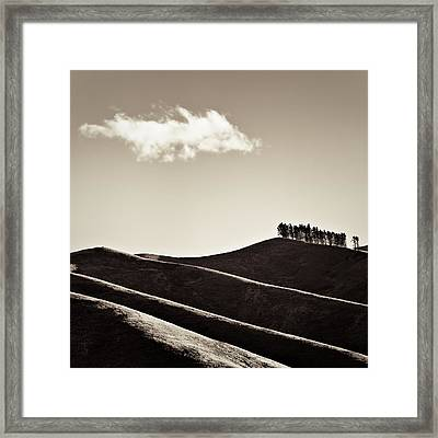 Solitary Cloud Framed Print by Dave Bowman