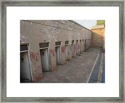 Solitary Confinement Cells Framed Print