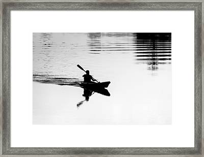 Framed Print featuring the photograph Solitary by Edgar Laureano