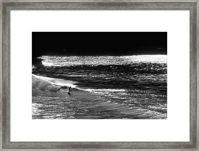 Solitary Glass Framed Print