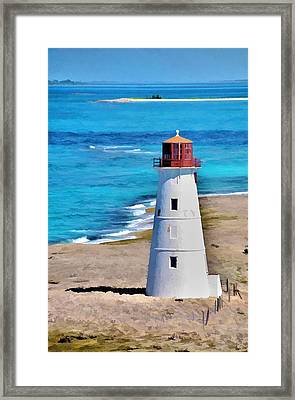Framed Print featuring the photograph Solitary Lighthouse by Pamela Blizzard