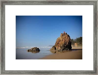 Solitary Ocean View Framed Print by Karen Lee Ensley