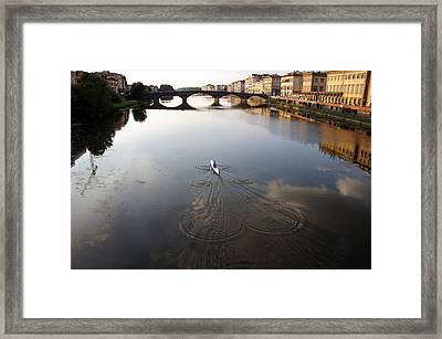Solitary Sculler Framed Print