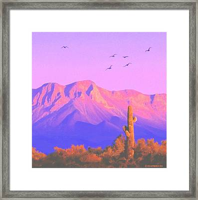 Framed Print featuring the painting Solitary Silent Sentinel by Sophia Schmierer
