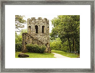 Framed Print featuring the photograph Solitary Stone Tower by Lincoln Rogers