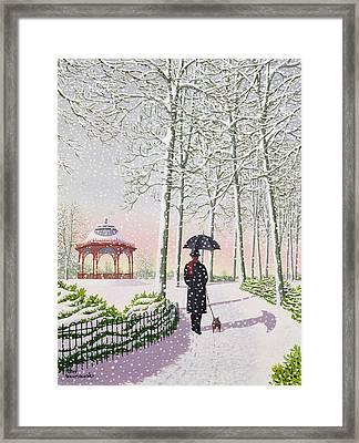 Solitary Stroll Framed Print
