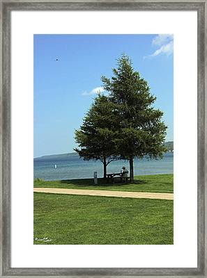 Solitary Superior Lunch Framed Print
