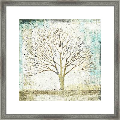 Solitary Tree Collage Framed Print by Avery Tillmon