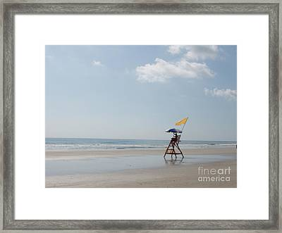 Solitary Watch Man Framed Print