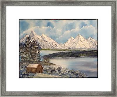 Solitude At The Lake Framed Print by Joyce Krenson
