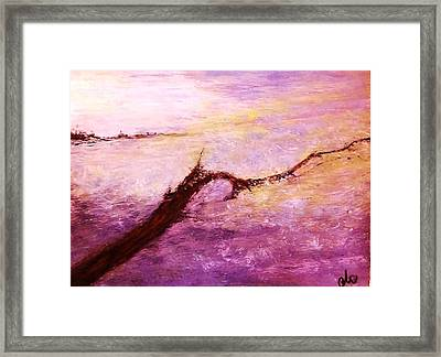 Framed Print featuring the painting Solitude by Cristina Mihailescu