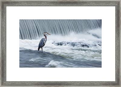 Solitude In Stormy Waters Framed Print