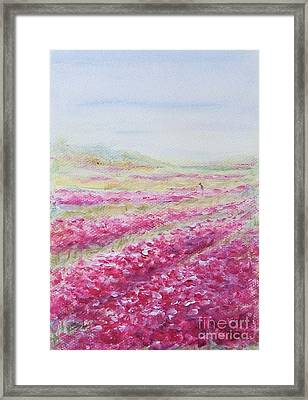 Framed Print featuring the painting Solitude by Jane  See
