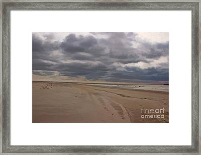 Solitude On The Beach Framed Print by Tom Gari Gallery-Three-Photography