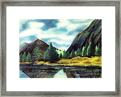 Framed Print featuring the painting Solitude by Patricia Griffin Brett