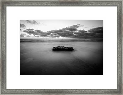 Solitude Rock Framed Print by Peter Tellone