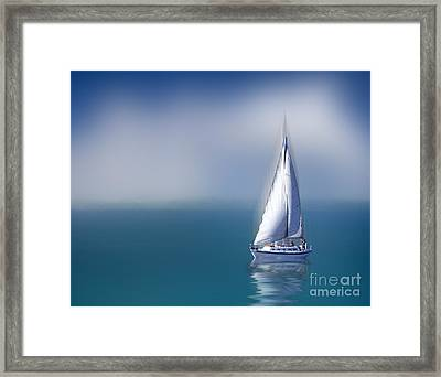 Framed Print featuring the digital art Solitude by Shirley Mangini