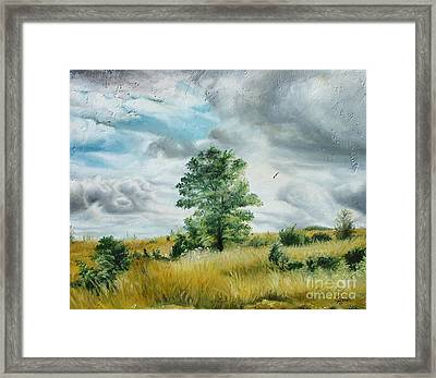Framed Print featuring the painting Solitude by Sorin Apostolescu