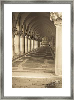 Solitude Under Palace Arches Framed Print